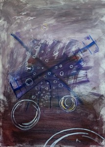 Căutare Ricerca Quest, 70x50, acryl on canvas, 2015