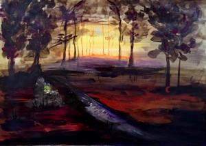 Codrii Cosminului Foreste di Cosmin Cosmin's Forests, 50x70, acryl on canvas, 2015