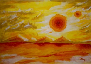 Canicula, Sultry Universe 50x70, acrylic on canvas 2011